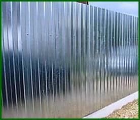 Оцинкованный профнастил на забор С8