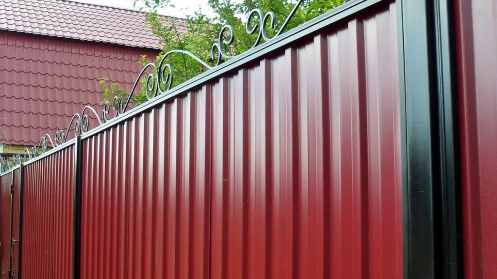 Профнастил фасадный для забора с полимерным покрытием Н75