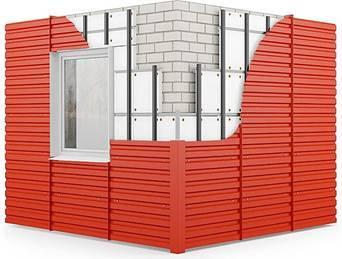 Профнастил фасадный для стен с полимерным покрытием НС35