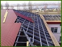 Крыша из профлиста с полимерным покрытием С20